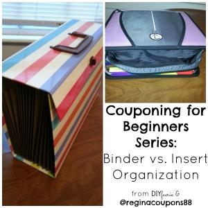 Couponing for Beginners Series: Binder vs. Insert Organization   DIYfaerie