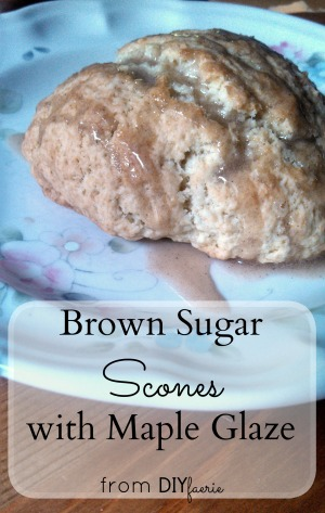 Brown Sugar Scones with Maple Glaze | DIYfaerie