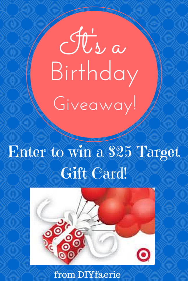 $25 Target Gift Card Giveaway from DIYfaerie
